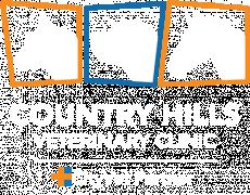 Country Hills Veterinary Clinic white logo